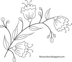 Flora's Colors: Happy New year! - free design for hand embroidery, fabric painting and other crafts