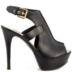 Guess Shoes Ofira Black Leather Women Shoes | Cofov