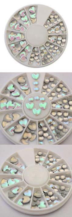 $2.11 3mm-5mm Heart Round 3D Nail Decoration Mini Nail Art Studs For UV Gel Nail Art - BornPrettyStore.com