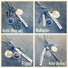 Scottish clan necklaces Outlander inspired