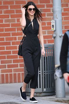 in a cutout jumpsuit in Beverly Hills.