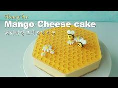 [Eng Sub] 망고치즈케이크/Honey Bee mango cheesecake Peach Mousse, Lemon Mousse Cake, Cheesecake Decoration, Dessert Decoration, Dessert Ideas, Chocolate Chiffon Cake, Chocolate Sponge Cake, Whipped Cream Cakes, Chocolate Whipped Cream