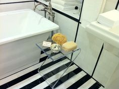 Rest your bath accessories on the Z Table!