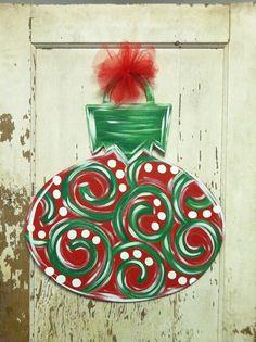 Christmas Ornament Door Hanger by PlumCuteGifts on Etsy, $35.00