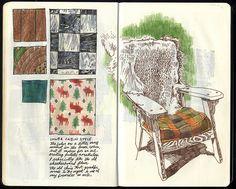 Art journal / sketchbook inspiration. 23, via Flickr.