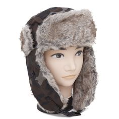 fe4dd1de8ceae Mens Camouflage Army Design Thermal Trapper/Ski Hat. Universal Textiles · Mens  Winter Hat styles