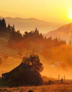 carpathian mountains at sunset Carpathian Mountains, Foggy Morning, Beautiful Sunrise, Nature Photos, Wonders Of The World, Ukraine, Mists, Nature Photography, Around The Worlds