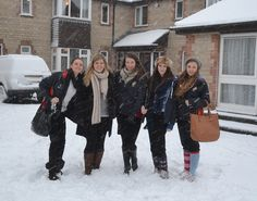 Warminster girls enjoy the snow
