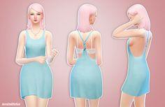 sims 4 mm cc maxis match dress