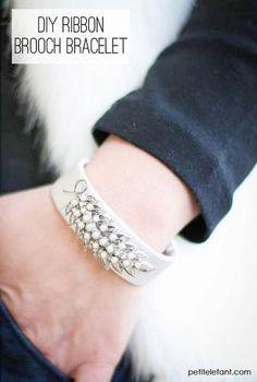 DIY bracelet with old brooches tutorial - Petit Elefant