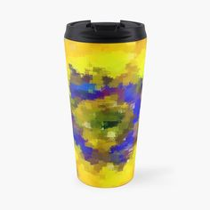 'abstract flower' Travel Mug by Abstract Flowers, Travel Mug, Bottles, Art Prints, Mugs, Printed, Tableware, Awesome, Shop