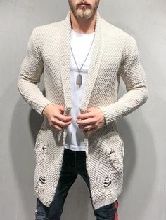Oversized Knitwear Cardigan 4148 for Sale in Saint Cloud, FL - OfferUp Blazer Outfits Men, Casual Outfits, Future Clothes, Knitwear Fashion, Beige Sweater, Suit And Tie, Streetwear Fashion, Mens Fashion, Street Fashion