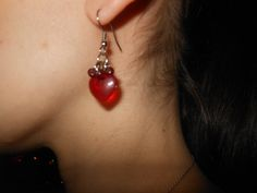 Heart Earrings by AngelPaws6 on Etsy