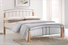 Home Tetras Modern Beech Wooden and Premium Metal Bed with Under-bed Storage Space, Headboard, Footboard, Slats Support, Multiple sizes Steel Bed Design, Home Office, Silver Bedding, Ottoman Bed, Under Bed Storage, Storage Beds, Metal Beds, Online Furniture, Yurts