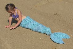 Set of 3 Crochet Patterns for Mermaid Tail by crochetbyjennifer