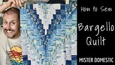 Making Waves Pillow (with video tutorial) - Mister Domestic Bargello Quilt Patterns, Bargello Quilts, Machine Quilting Patterns, Quilt Block Patterns, Quilt Blocks, Quilting Tutorials, Quilting Projects, Quilting Designs, Quilt Design
