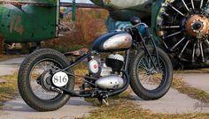 bikerMetric | custom honda yamaha metric bobbers, choppers, cafe racers: ukraine-built jawa two-stroke 250cc thumper bobber