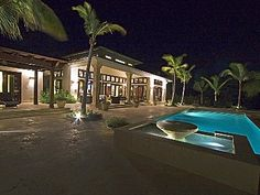 Punta Cana villa rental - Rear view of main house, master wing, and pool