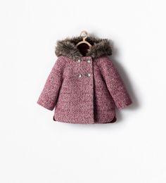 JAS MET STRUCTUUR EN BONTCAPUCHON-Mantels-Baby meisje (3 maanden - 3 jaar)-KINDEREN | ZARA Nederland