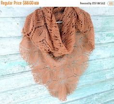 ON SALE Shawl knitted arms  brown shawl rustic wedding Free