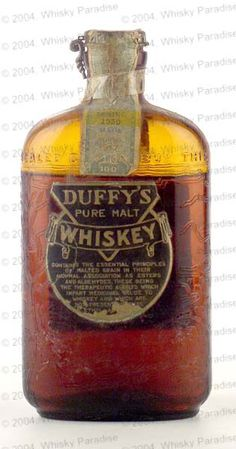 Duffy's, a prohibition era whiskey. A beautiful piece of history, that you wish you could drink.