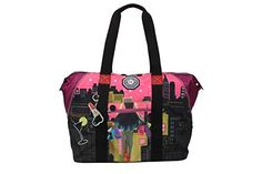 Nicole Lee WR Crinkle Nylon Print Expandable Overnighter Shoulder Bag Dark *** Visit the image link more details. (This is an affiliate link and I receive a commission for the sales)