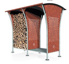 WoodStocker WoodStocker the beautiful and practical wood storage: it offers plenty of space to dry and store your firewood. The basic model provides a storage capacity of 1,3m3 if this is no longer enough you can easily add on another piece. Woodstocker is not only functional, the storage may be used as a nice partition to separate the driveway from the garden.