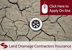 land draining contractors public liability insurance
