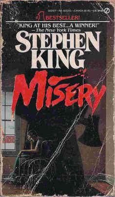 About the Book Another pick from the King of Horror Author, Stephen King, comes his psychological horror novel Misery , published in Misery Stephen King, Stephen King Books, Stephen Kings, Book Club Books, Good Books, The Book, Books To Read, Short Novels, Horror Books