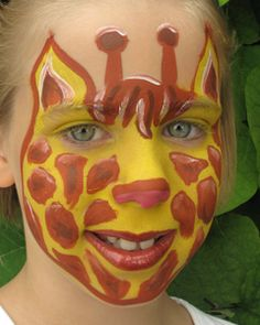 easy giraffe face paint idea i would make it into a mask and use a pouncer to make it go faster. Black Bedroom Furniture Sets. Home Design Ideas