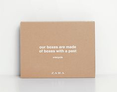 Boxes with a past-Join Life | ZARA España