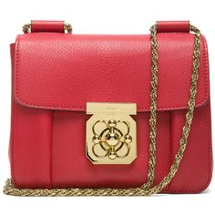 Chloe Elsie Small Shoulder Bag in Berry Cupcake found on Polyvore