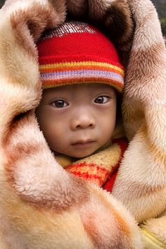 Baby with Red Hat, Yunnan China