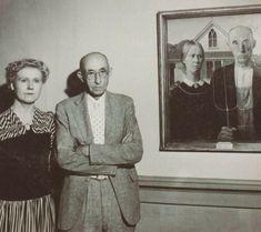 Grant Wood Paintings, Oil Paintings, American Gothic, Jackson Pollock, Pin Up Art, Famous Artists, Artist Art, Wood Art, Art History