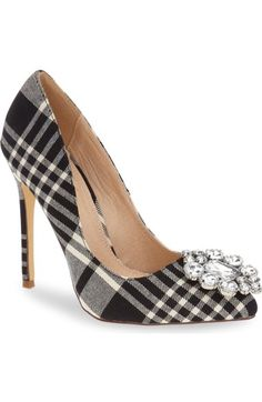 Lauren Lorraine Crystal Pointy Toe Pump (Women) available at #Nordstrom