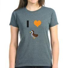 I Heart Quails T-Shirt