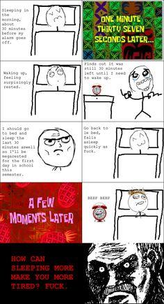 Rage Comic sleep, seriously, every morning