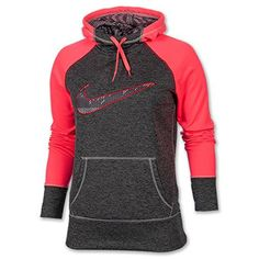 Nike Women's Therma-Fit All Time Swoosh Pullover Training Hoodie-Grey/Pink *** Check this awesome item by going to the link at the image.
