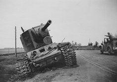 KV-2 tank - abandoned