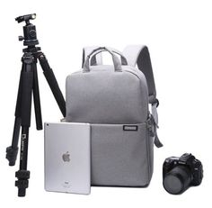 Professional Fashion Camera Bag DSLR Laptop Backpack Waterproof Rucksack Travel Large Size Multifunctional backbag Water Resistant Compatible with Sony Canon Nikon Lens Tripod and Accessories(L-Grey) Camera Bag Backpack, Dslr Camera Bag, Nikon Lens, Travel Backpack, Fashion Backpack, Waterproof Laptop Backpack, Laptop Bag, Sony, Photo Bag