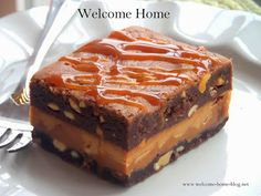 Welcome Home: ♥ Peanut Butter Fudge Brownies