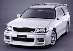 The Nissan Stagea normally alluded to as the Skyline wagon (since it offers numerous mechanical parts as the Nissan Skyline and Nissan Laurel) is a station wagon initially created by Nissan in 1996 as immediate rivalry for the Subaru Legacy Touring wag Best Wagons, Toyota, Pole Star, Subaru Legacy, Japanese Cars, Nissan Skyline, Jdm Cars, Station Wagon, Volvo