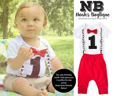 8d51773c8 Mickey Mouse First Birthday Party Outfit Boy With Red Pants. Mickey First  BirthdayBaby ...