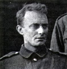 Edward Thomas. Poet. He served with The Artists Rifles and was killed at Arras in 1917. http://en.wikipedia.org/wiki/Edward_Thomas_%28poet%29