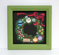 Christmas Wreath Holiday Wreath Christmas Ornaments Folk