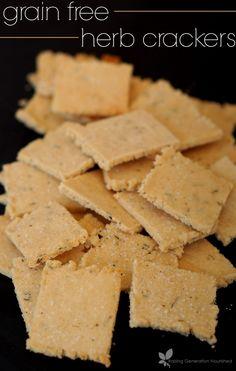 Grain Free Herb Crackers // deliciousobsessions.com // #grainfree #paleo #dairyfree #primal