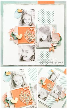 Papercrafting ideas: scrapbook layout idea. #papercraft #scrapbooking #layouts. Jot Magazine July Mood Board | Citrus and turquoise and green found on a scrapbook layout inspiration. @jamiepate for @jotmagazine