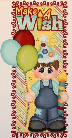"Birthday Boy ""Make a Wish"" (Scrapbook Paper Piecings)"
