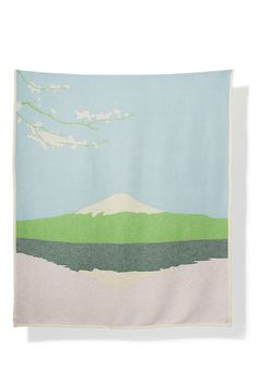 Honshu Blankets & Throws by Sophie Probst Jacquard Loom, Mount Fuji, Cotton Blankets, Artist At Work, Weaving, Tapestry, House Ideas, Inspiration, Design