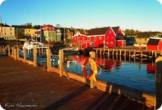 Insert a wedding party here, on the Lunenburg waterfront, and it's classic maritime for the nautical bride